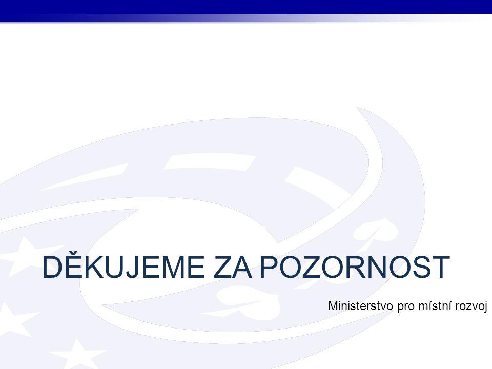DĚKUJEME ZA POZORNOST Ministerstvo pro místní rozvoj