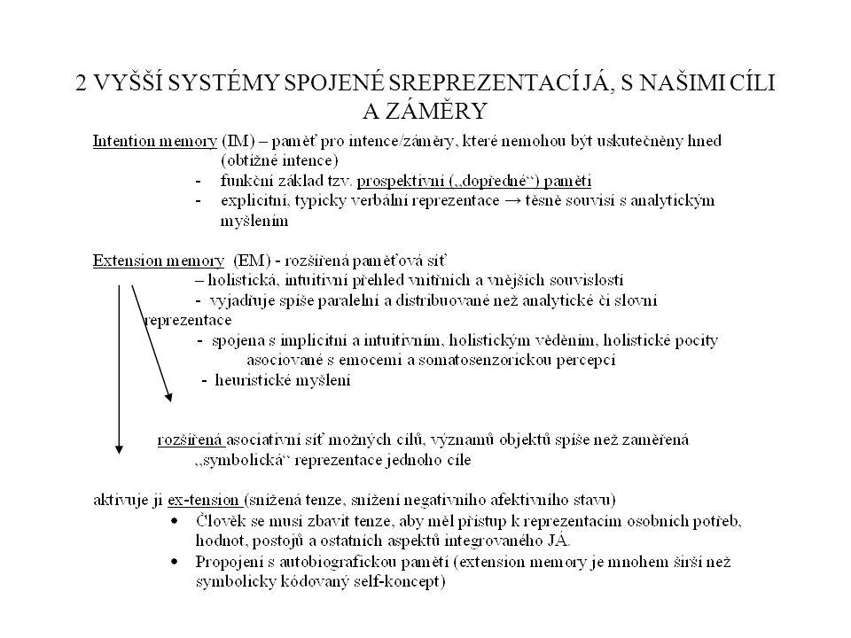 2 VYŠŠÍ SYSTÉMY SPOJENÉ SREPREZENTACÍ JÁ, S NAŠIMI CÍLI A ZÁMĚRY