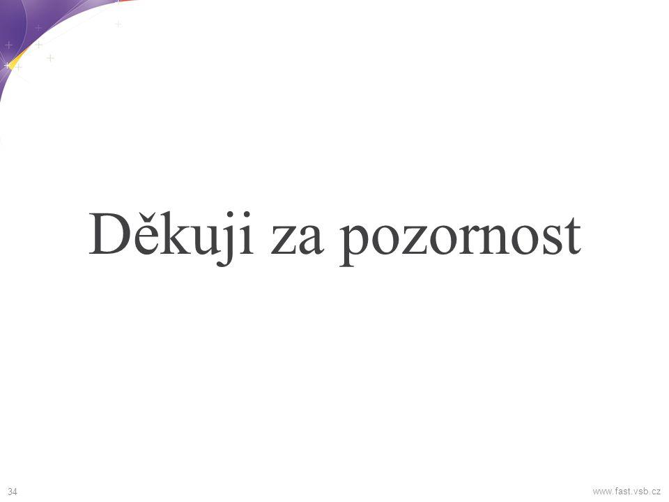 Děkuji za pozornost 34 www.fast.vsb.cz