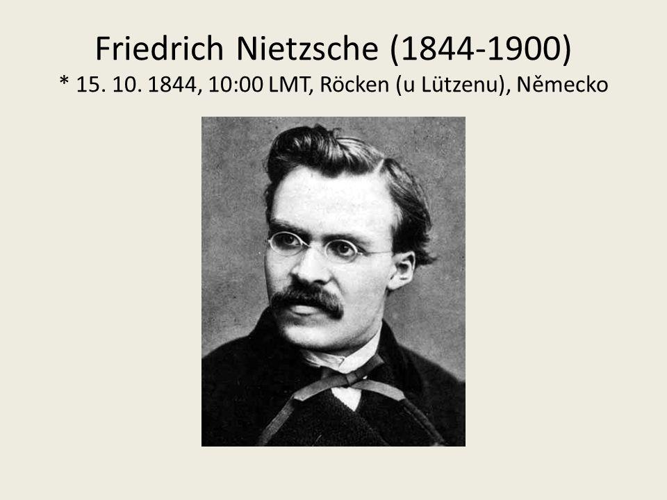 Friedrich Nietzsche (1844-1900) * 15. 10. 1844, 10:00 LMT, Röcken (u Lützenu), Německo