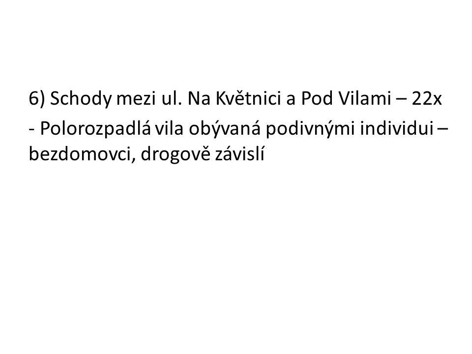 6) Schody mezi ul.