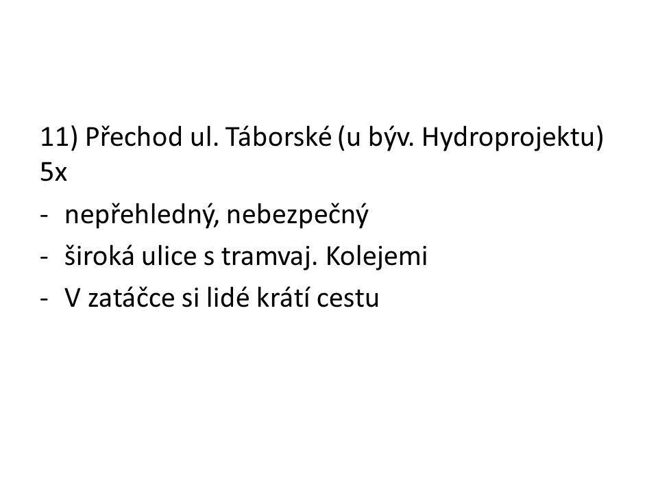 11) Přechod ul. Táborské (u býv.
