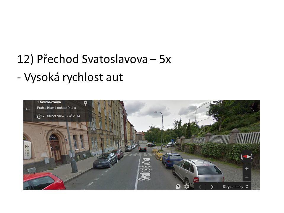 12) Přechod Svatoslavova – 5x - Vysoká rychlost aut