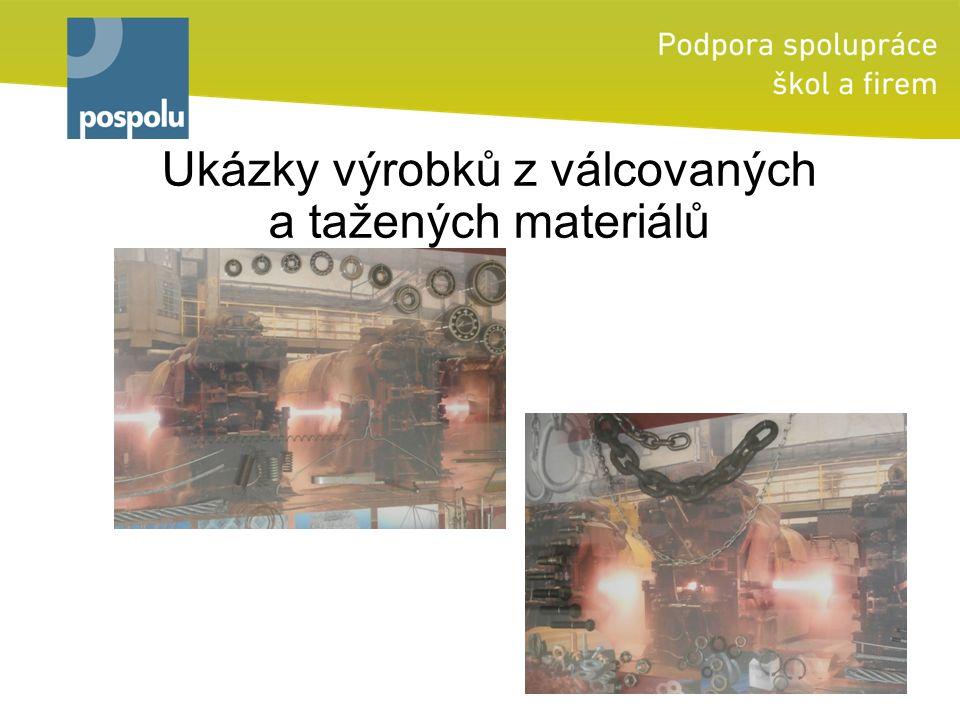 Ukázky výrobků z válcovaných a tažených materiálů