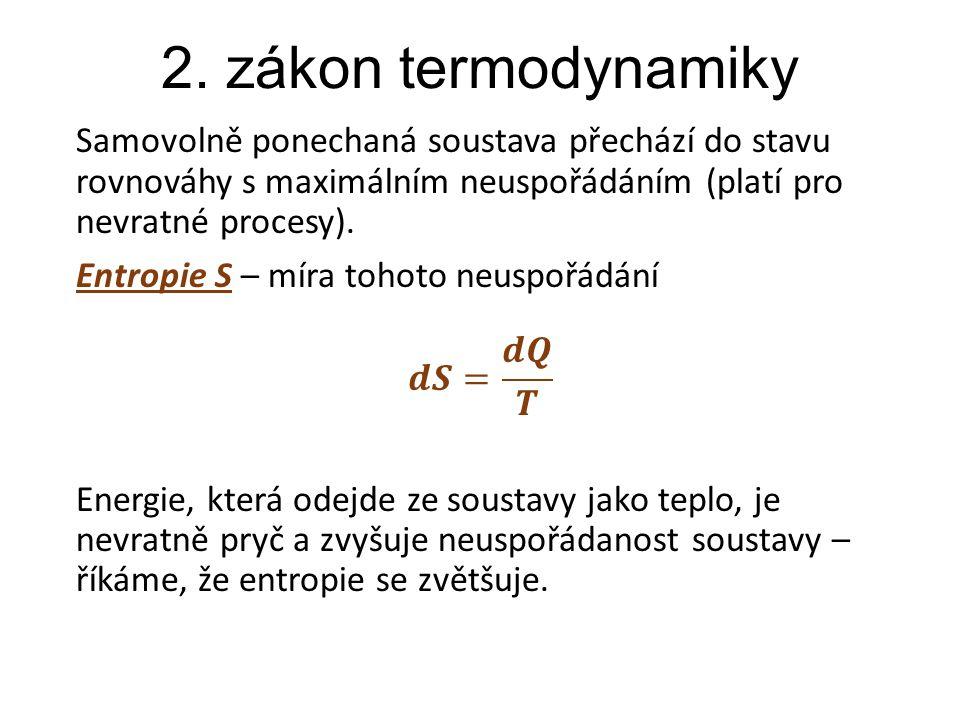 2. zákon termodynamiky