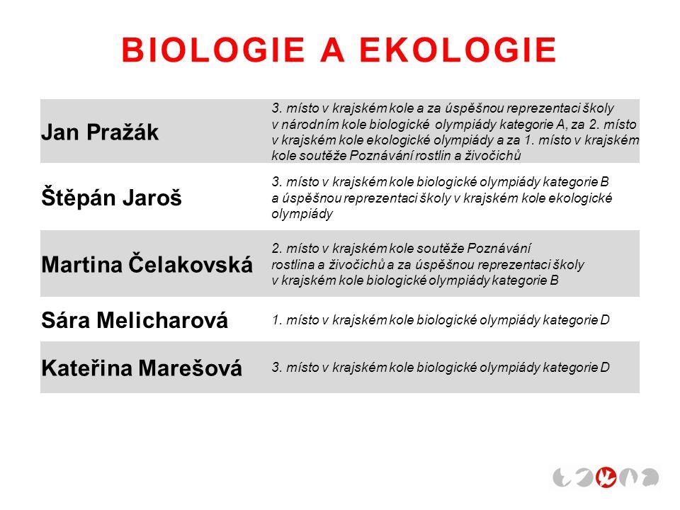BIOLOGIE A EKOLOGIE Jan Pražák 3.