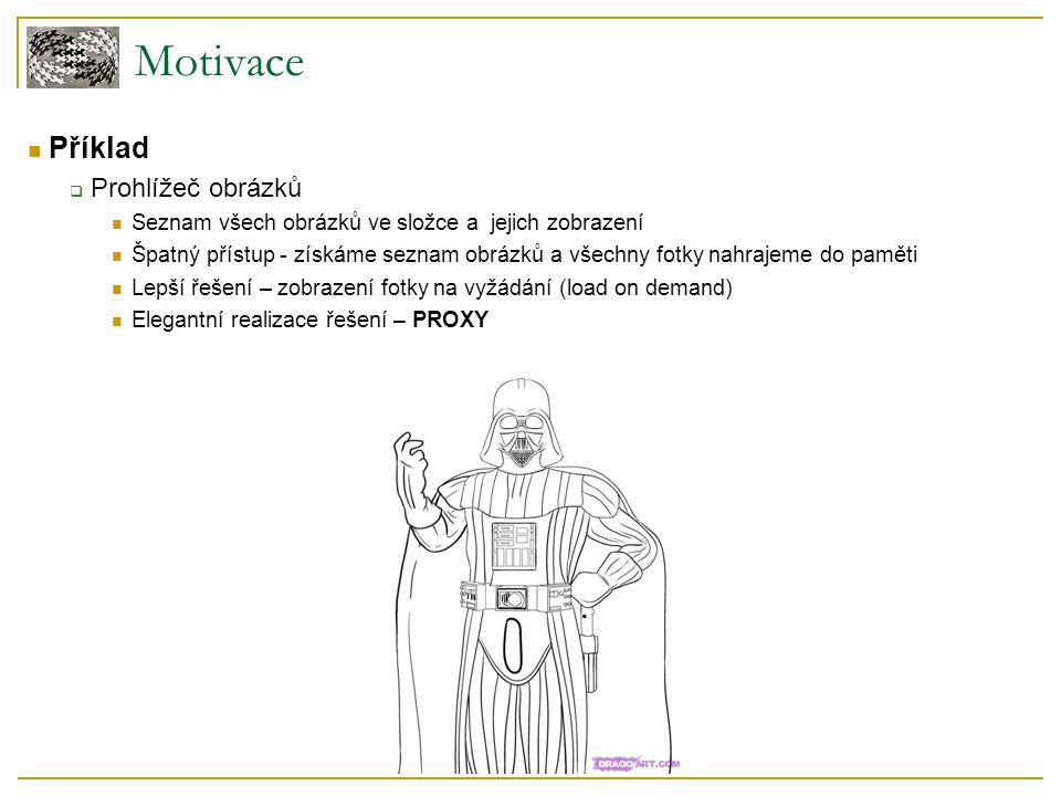 Motivace Příklad  Prohlížeč obrázků Seznam všech obrázků ve složce a jejich zobrazení Špatný přístup - získáme seznam obrázků a všechny fotky nahraje