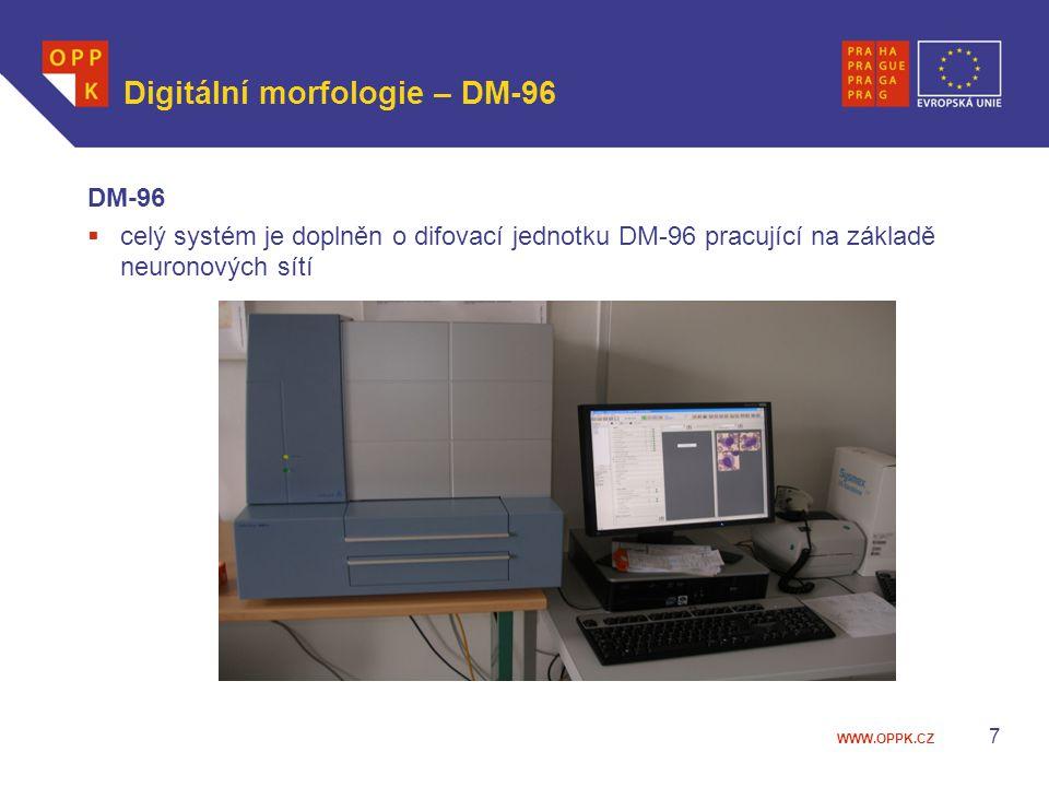WWW.OPPK.CZ 7 Digitální morfologie – DM-96 DM-96  celý systém je doplněn o difovací jednotku DM-96 pracující na základě neuronových sítí