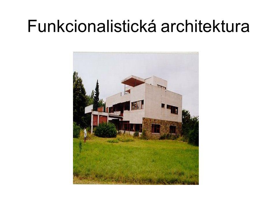 Formy funkcionalistické architektury