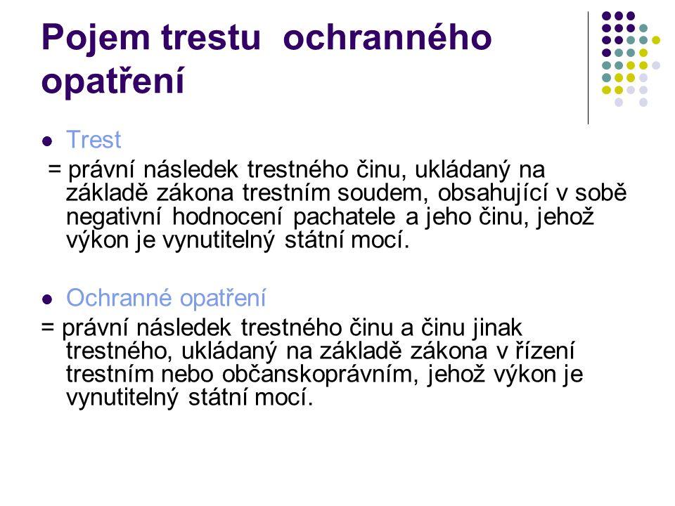 Systém trestů v z.č.40/2009 Sb.