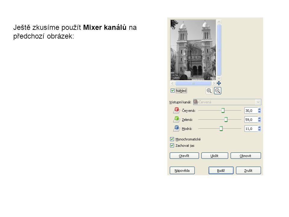 Ještě zkusíme použít Mixer kanálů na předchozí obrázek:
