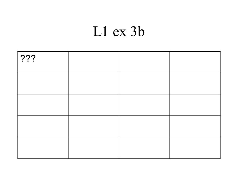 L1 ex 3b