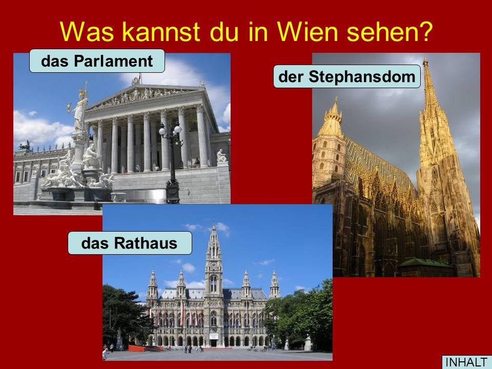 Was kannst du in Wien sehen? das Parlament das Rathaus der Stephansdom INHALT