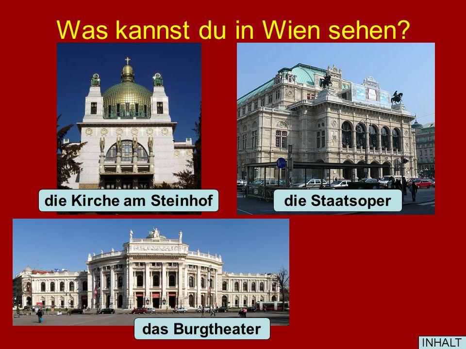 Was kannst du in Wien sehen das Schloss Schönbrunn die Hofburg das Schloss Belvedere INHALT