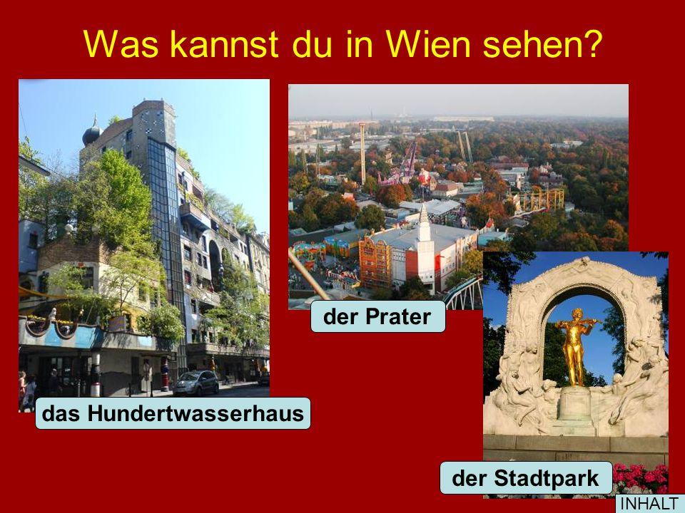 Was kannst du in Wien sehen? der Prater der Stadtpark das Hundertwasserhaus INHALT