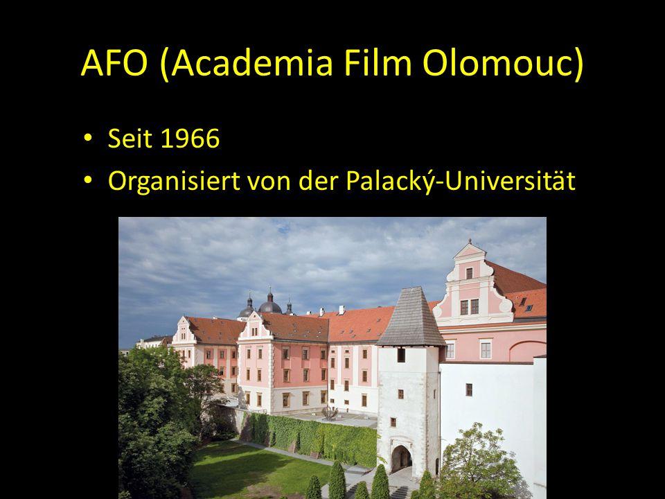 AFO (Academia Film Olomouc) Seit 1966 Organisiert von der Palacký-Universität