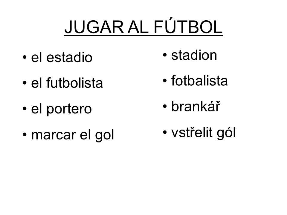 JUGAR AL FÚTBOL stadion fotbalista brankář vstřelit gól el estadio el futbolista el portero marcar el gol