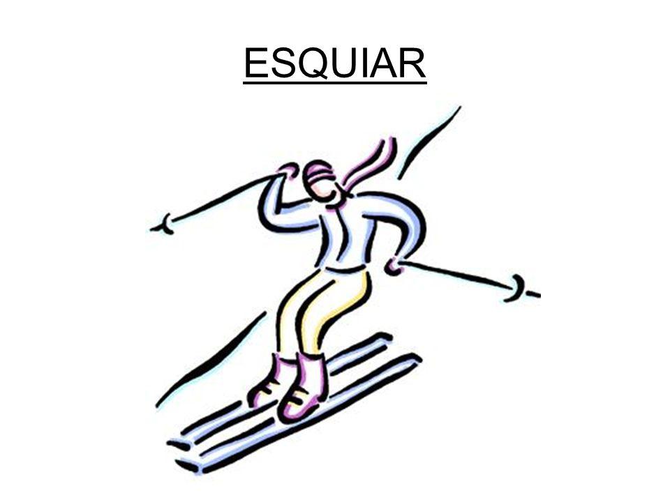 la pista de esquí los esquís / la tabla el gorro los guantes