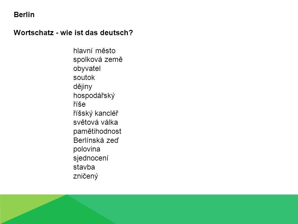 Berlin Wortschatz - wie ist das deutsch.