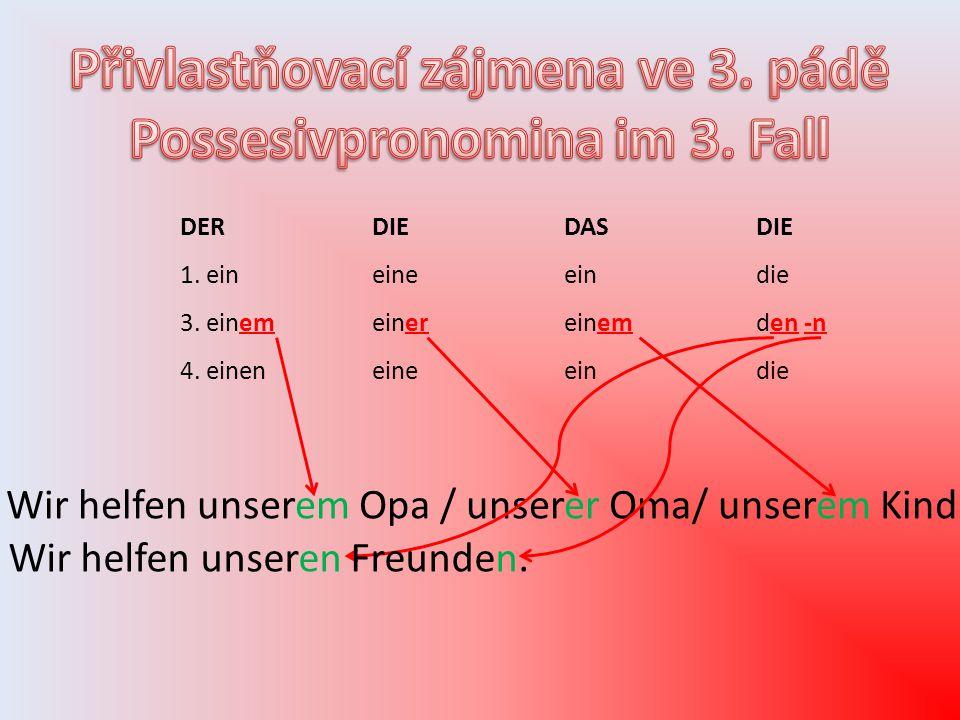 DERDIEDASDIE 1. eineineeindie 3. einemeinereinemden -n 4.