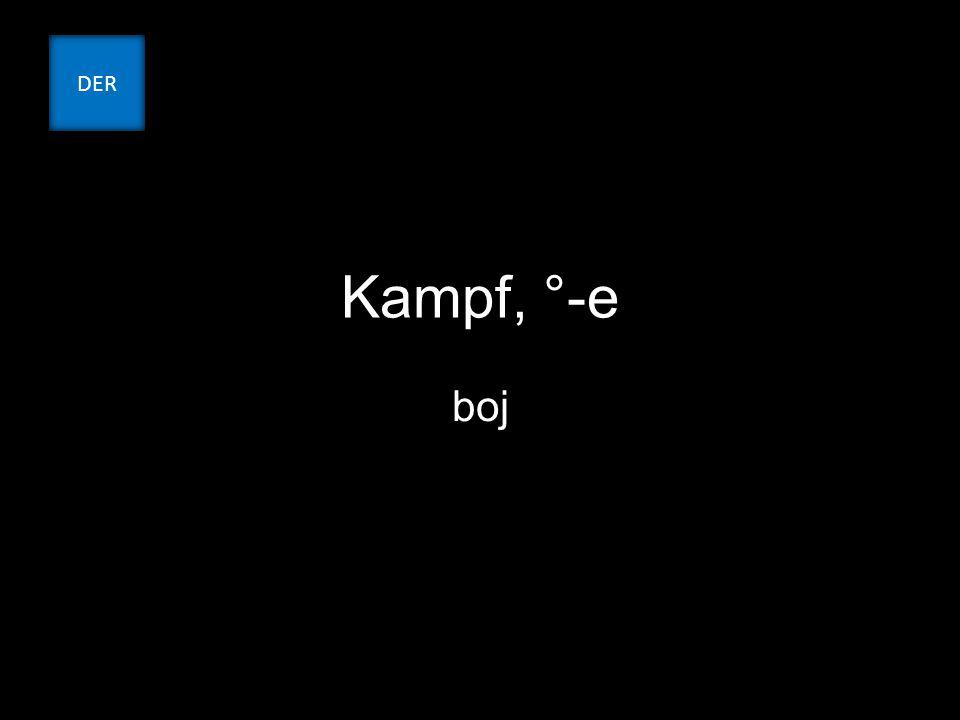 Kampf, °-e boj DER