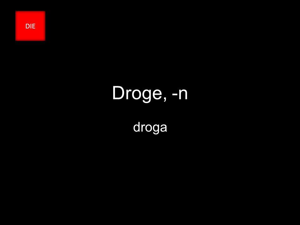 Droge, -n droga DIE