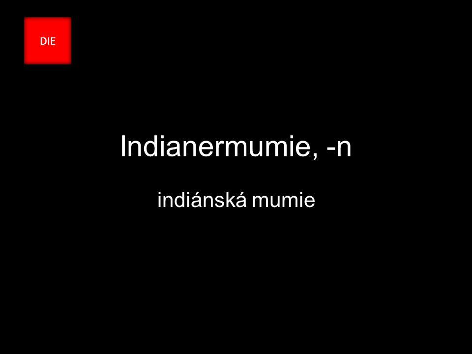 Indianermumie, -n indiánská mumie DIE