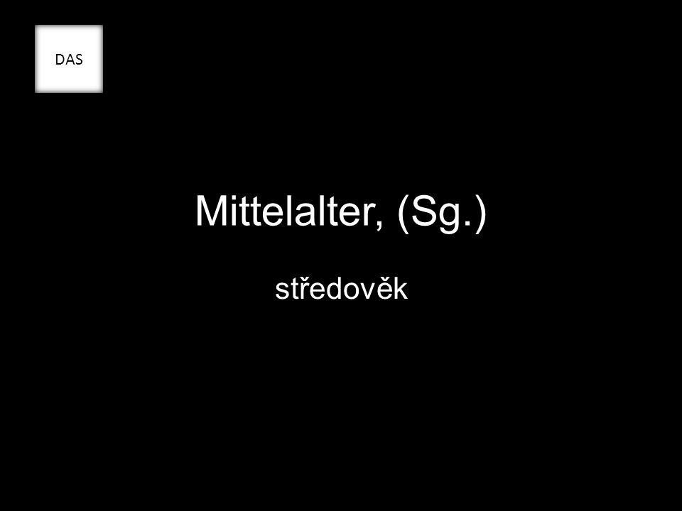 Mittelalter, (Sg.) středověk DAS