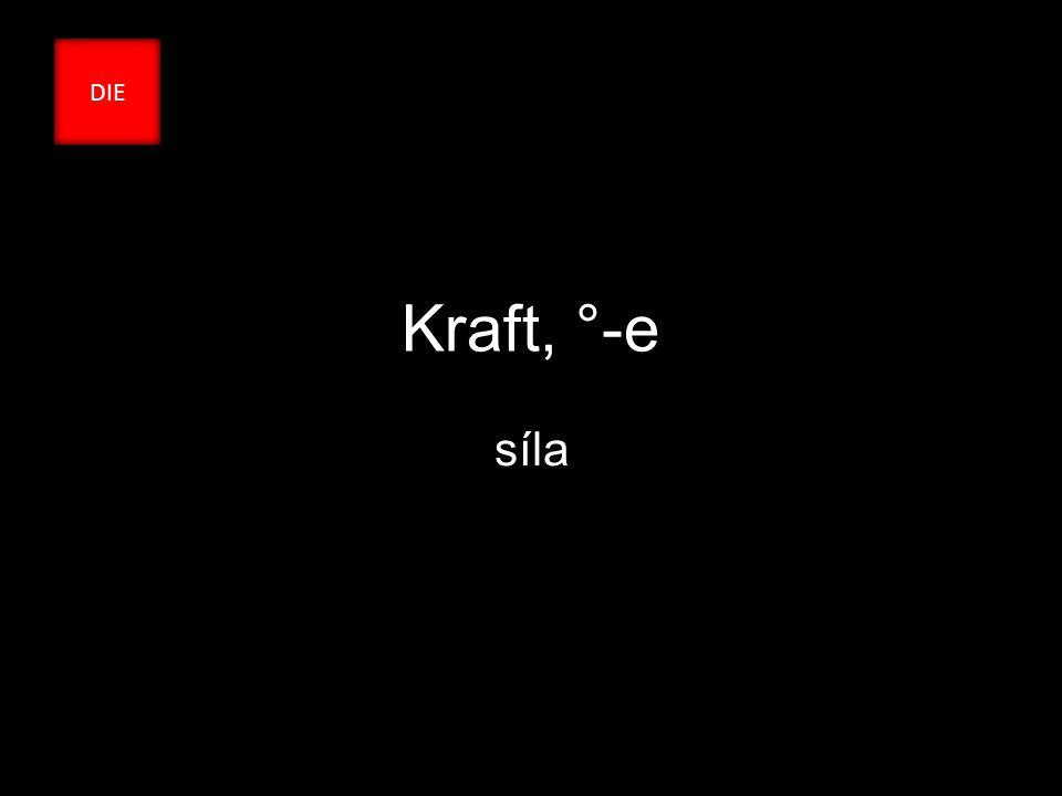 Kraft, °-e síla DIE