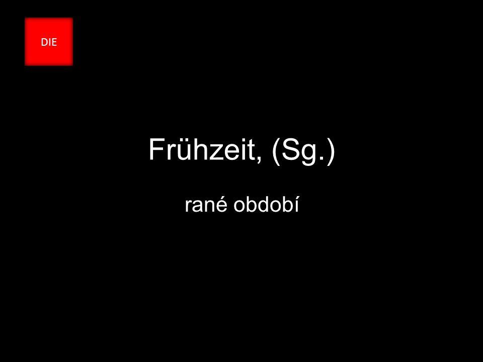 Frühzeit, (Sg.) rané období DIE