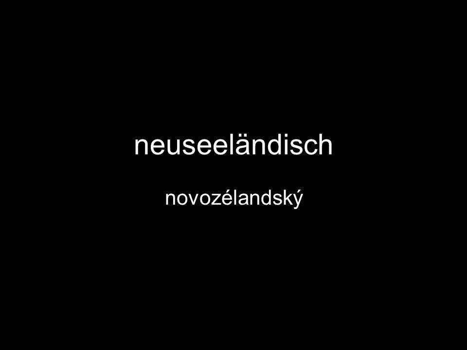 neuseeländisch novozélandský