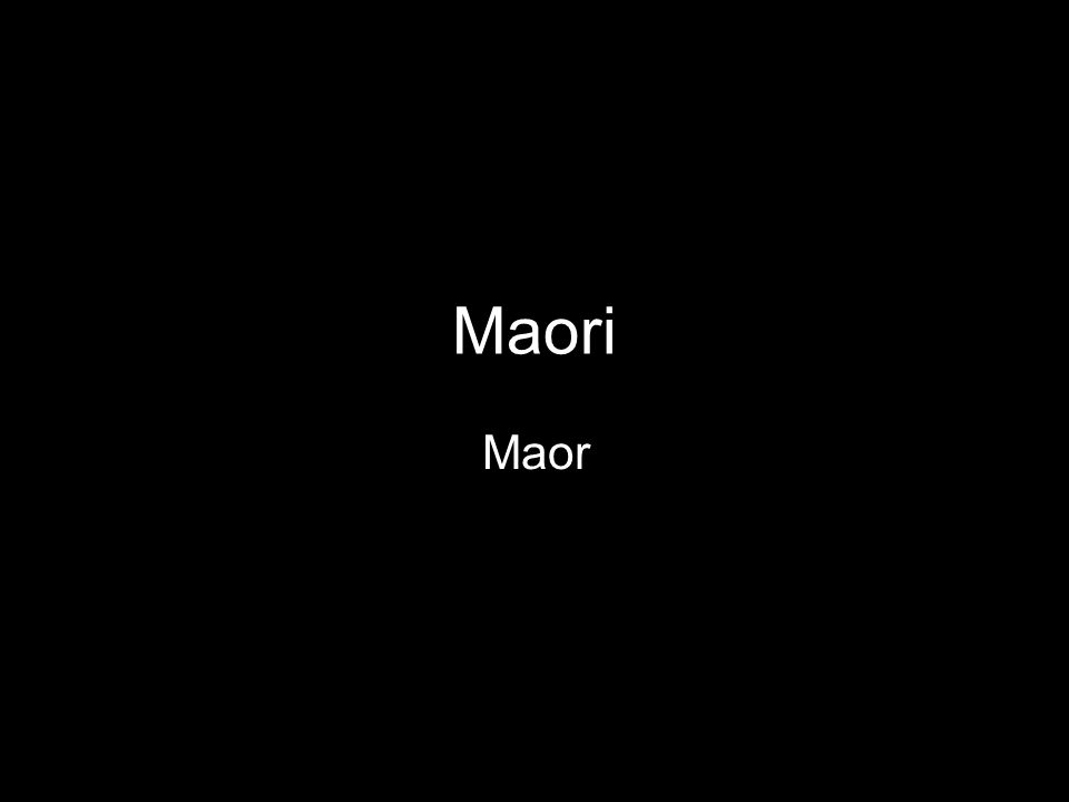 Maori Maor