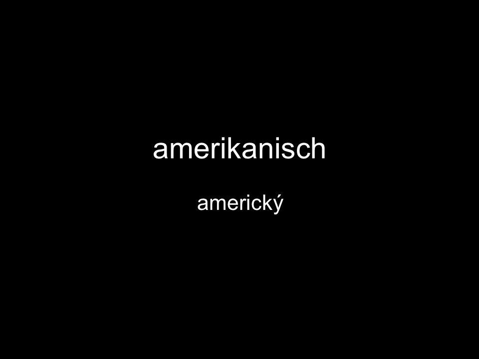 amerikanisch americký