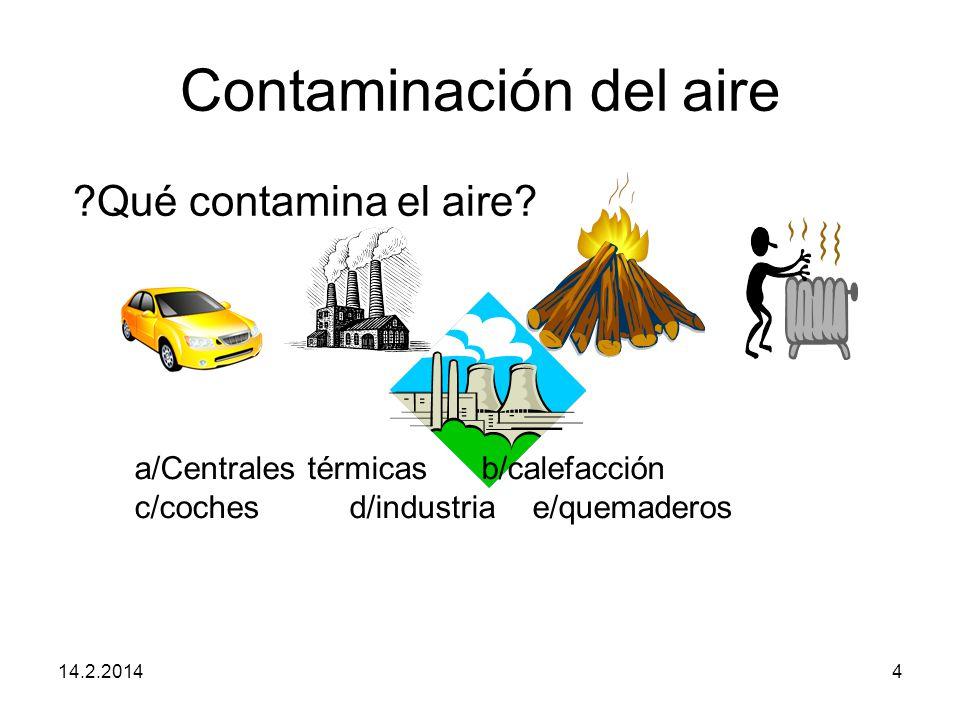 Contaminación del aire 14.2.20144 Qué contamina el aire.