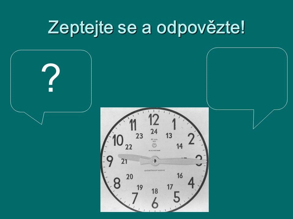 Wie spät ist es ? Es ist ein Viertel nach neun.