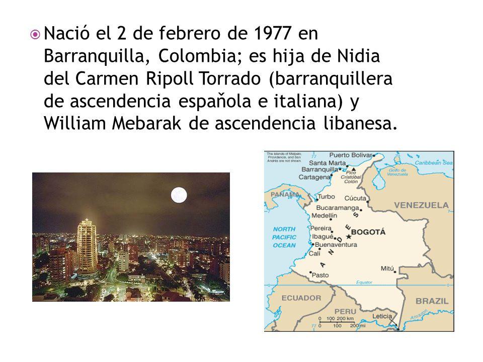  Nació el 2 de febrero de 1977 en Barranquilla, Colombia; es hija de Nidia del Carmen Ripoll Torrado (barranquillera de ascendencia espaňola e italia