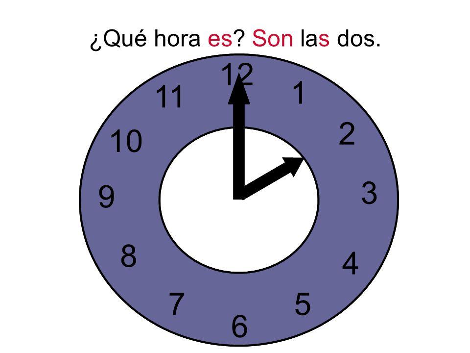 ¿Qué hora es. Son las dos.