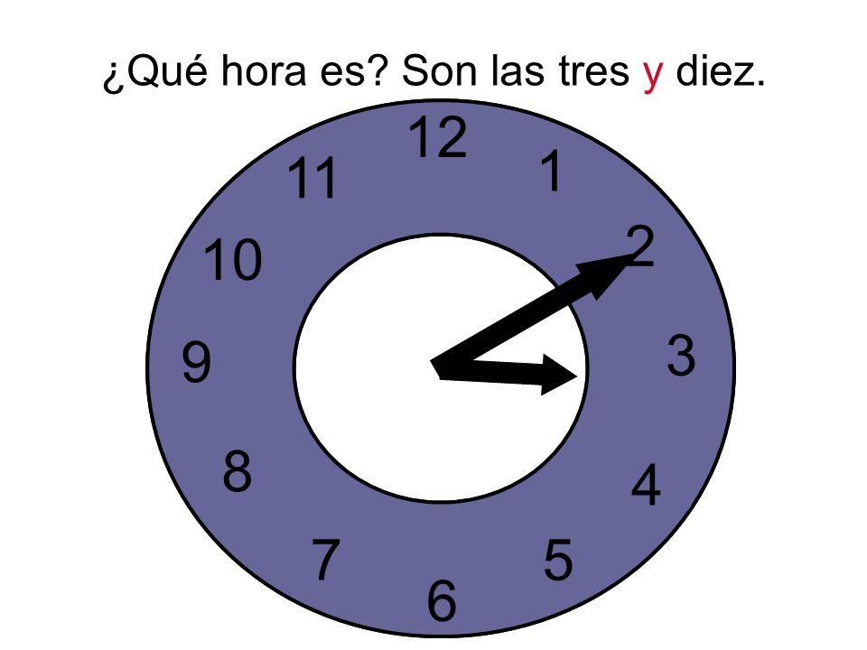 ¿Qué hora es. Son las tres y diez.