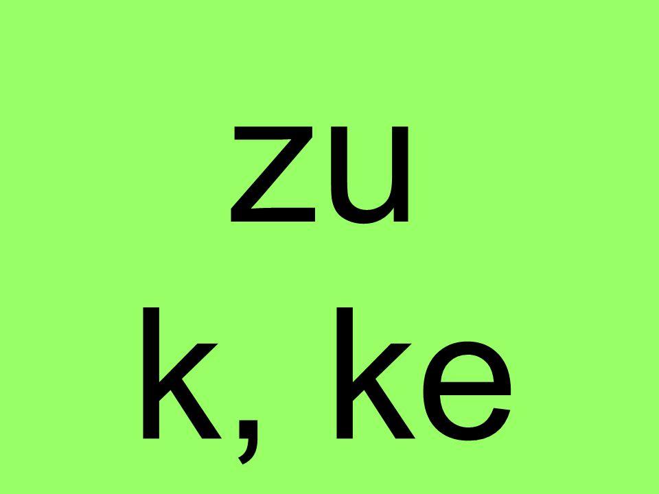 k, ke