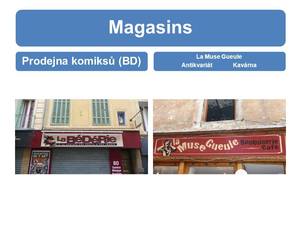 Magasins Prodejna komiksů (BD) La Muse Gueule Antikvariát Kavárna