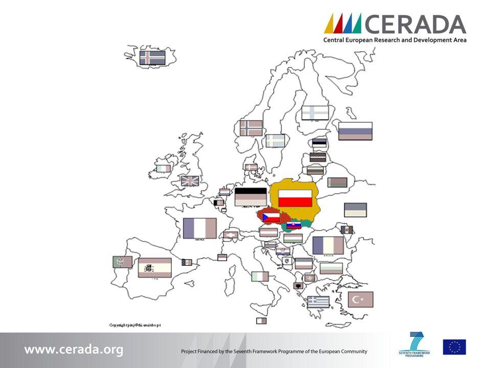 Partneři 13 partnerských institucí – univerzit, vědeckotechnologických parků, technologických center, rozvojových agentur a klastrů ze čtyř regionů Střední Evropy.