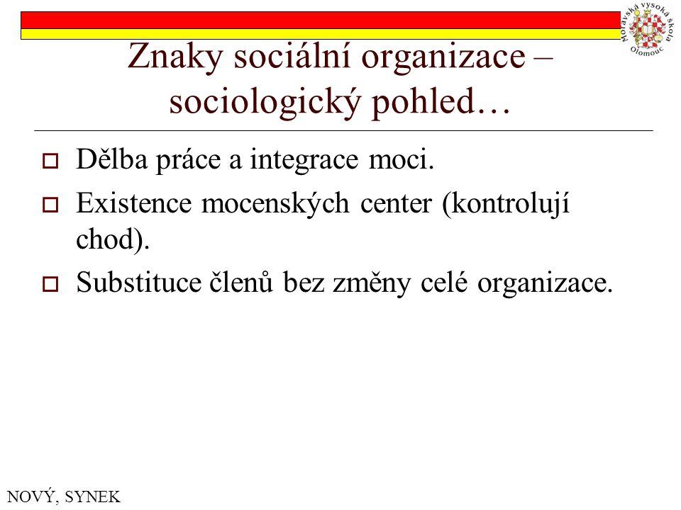 Formální struktura organizace – sociologický pohled… 1.