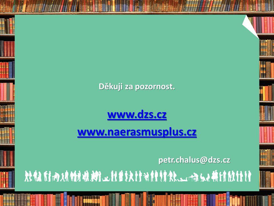 Děkuji za pozornost. www.dzs.cz www.naerasmusplus.cz petr.chalus@dzs.cz