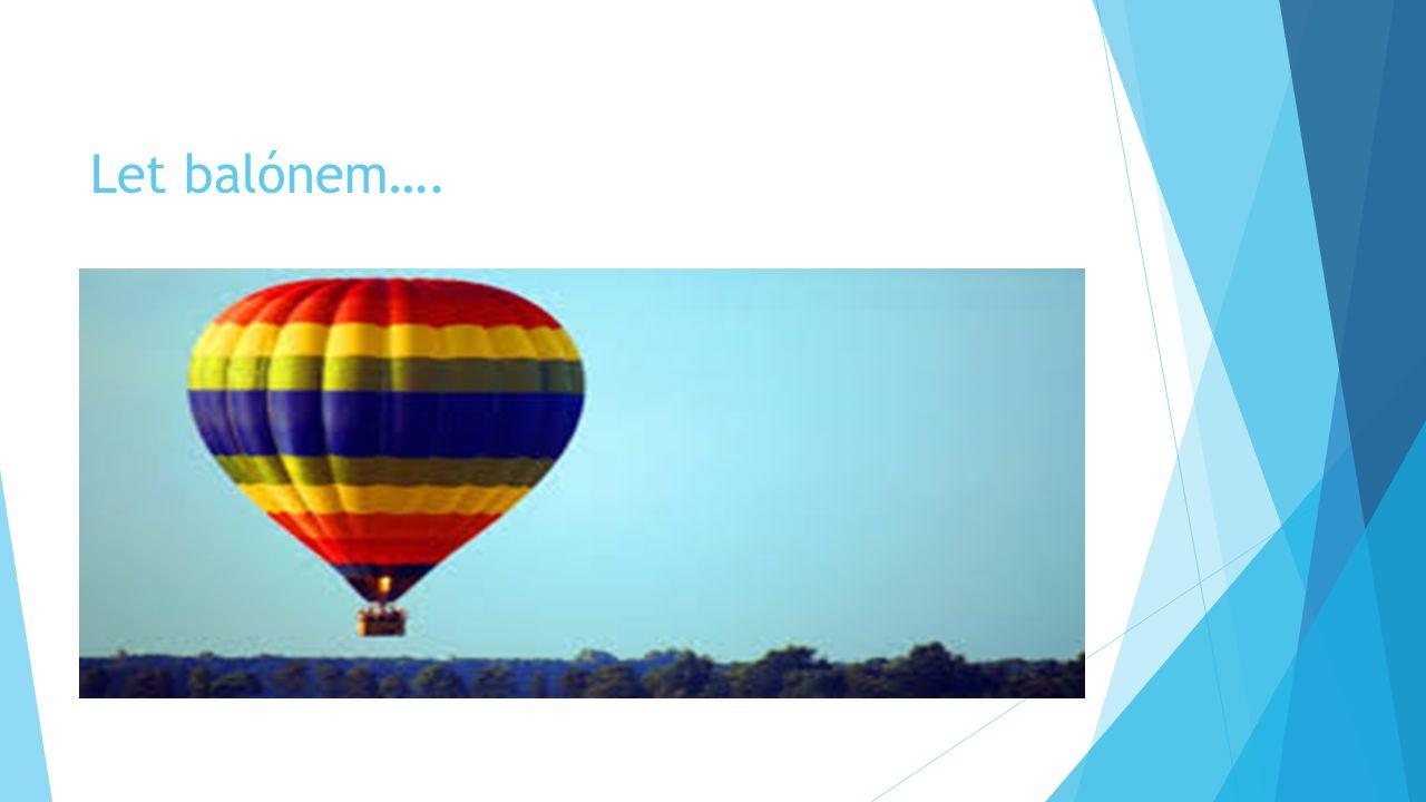 Let balónem….