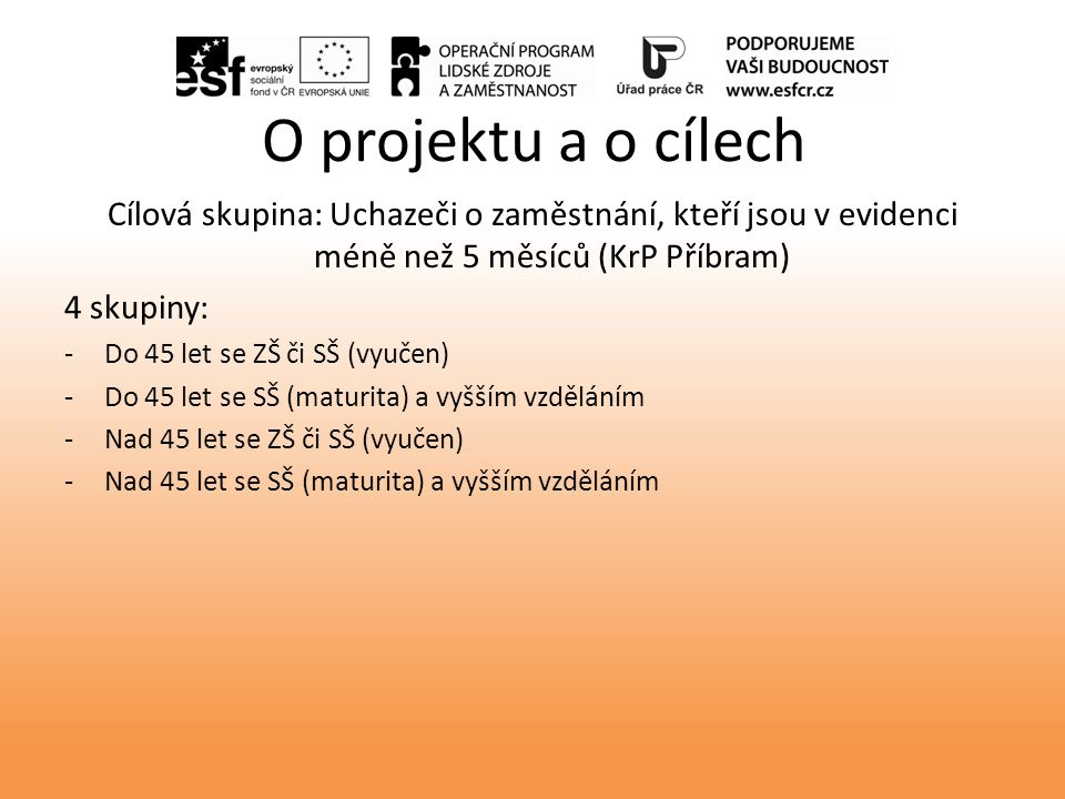Projekt Krátce bez práce, reg.č.