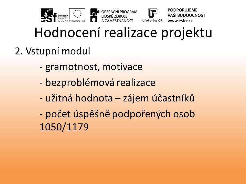 Hodnocení realizace projektu 2.