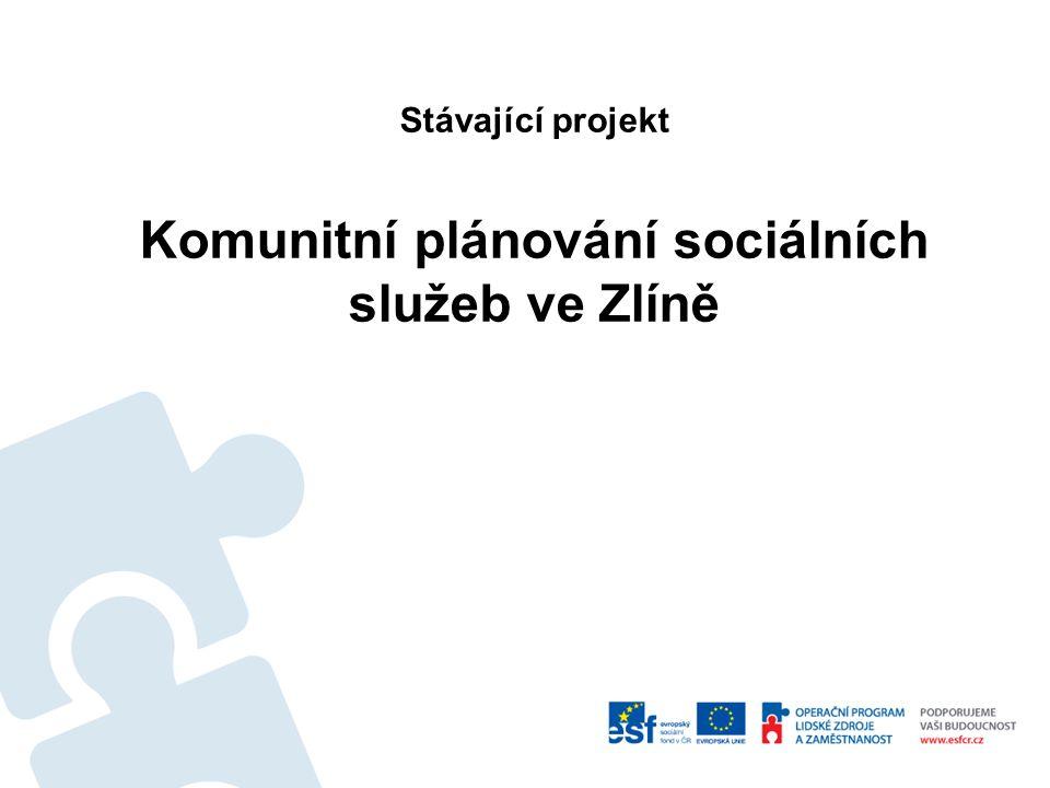 Stávající projekt Komunitní plánování sociálních služeb ve Zlíně