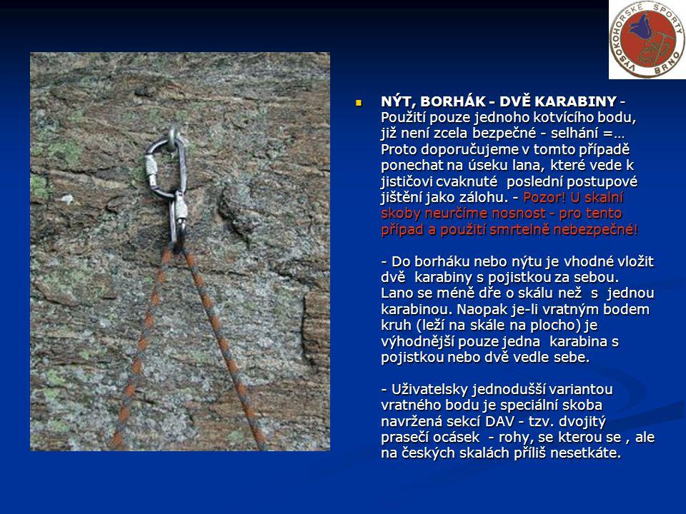 NÝT, BORHÁK - DVĚ EXPRESKY - Tato varianta je mezi skalkaři asi nejpoužívanější.