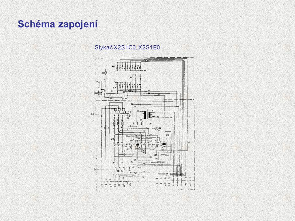 Schéma zapojení Stykač X2S1C0, X2S1E0