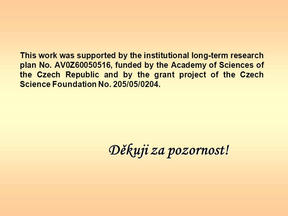 This work was supported by the institutional long-term research plan No.